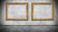 Two Old Golden Frames Royalty Free Stock Photos - 51328978