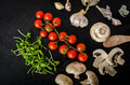 Bio Garlic, Spices And Wild Mushrooms From The Home Garden Royalty Free Stock Photo - 51344655