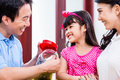 Chinese Family Saving Money For College Fund Stock Images - 51375344