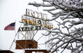Snow Covered Hotel Monte Vista Royalty Free Stock Image - 51390186