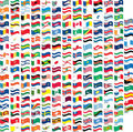 Many Flag In Wave Shape Stock Images - 5140304