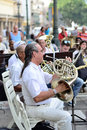 A Musician With A French Horn In An Orchestra. Stock Photos - 51405793