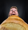 Man Eating A Big Bread Royalty Free Stock Images - 51405809