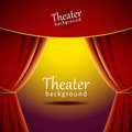 Vector Background With Theater Stage And Red Curtain Royalty Free Stock Photo - 51409945