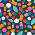 Medical Seamless Pattern With Pills And Capsules Royalty Free Stock Photos - 51411038