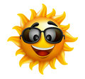 Summer Sun Face With Sunglasses And Happy Smile Stock Images - 51416234
