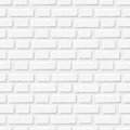 White Brick Wall. Vector Seamless Texture. Stock Photography - 51419922