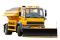 Orange Snow Plow Truck Royalty Free Stock Photography - 51421477