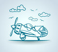 Abstract Plane, Stylization, Vector Stock Photo - 51421750