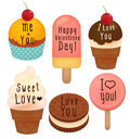 Set Of Valentine S Day Card Stock Images - 51431584