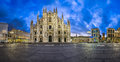 Panorama Of Duomo Di Milano (Milan Cathedral) And Piazza Del Duo Royalty Free Stock Photography - 51449587