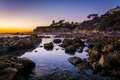 Tide Pools At Sunset, At Little Corona Beach  Royalty Free Stock Images - 51458039