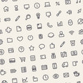 Light Tilted Seamless Pattern With Universal Web Icons Royalty Free Stock Images - 51461909