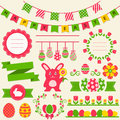 Happy Easter! Vector Design Elements. Stock Photo - 51463110