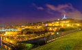 Night View Of Fort St. Nicolas And Notre-Dame-de-la-Garde In Mar Royalty Free Stock Photography - 51465657