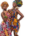 African Female Models Posing In Dresses. Stock Images - 51470684