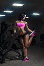 Sexy Young Girl Stretching After Training. Fitness Woman In Spor Stock Images - 51474474