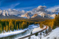 Winter In Banff National Park Stock Photography - 51475102