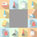 Vector Application Cleaning Icons Set In Flat Royalty Free Stock Image - 51475546