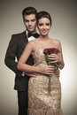 Elegant Man Holding His Wife From The Back Stock Photography - 51476052