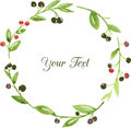 Vector Watercolor Floral Frame Royalty Free Stock Images - 51476329