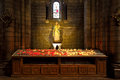 Virgin Mary With Baby Jesus Statue Inside Cathedral In Monaco. Stock Image - 51481491