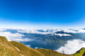 Aerial View Of Lucerne Lake And The Alps From Top Of Rigi Mounta Royalty Free Stock Photo - 51484925