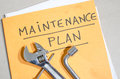 Tools On A Folder Of Maintenance Plan Stock Photography - 51488922