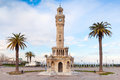 Empty Konak Square View With Historical Clock Tower. Izmir Royalty Free Stock Photos - 51494448