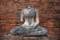 Image Of Buddha Without Head, Wat Chaiwatthanaram, Ayutthaya Royalty Free Stock Image - 51494536