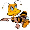 Clever Little Wasp Royalty Free Stock Images - 5156099