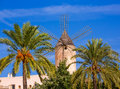 Palma De Majorca Windmills Wind Mill In Mallorca Royalty Free Stock Images - 51513829