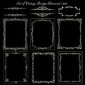 Set Of Vintage Frames And Borders Stock Images - 51517044