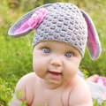 Baby Easter Bunny Or Lamb Of Green Grass Royalty Free Stock Photos - 51525068