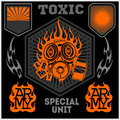 Special Unit Military Patch - Vector Set Royalty Free Stock Photography - 51525177