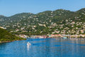 Ferry Crossing Blue Bay Of St Thomas Royalty Free Stock Image - 51525196