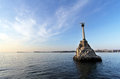 Monument To Scuttled Ships At Sunset. Symbol Of Sevastopol Crimea Royalty Free Stock Images - 51525519