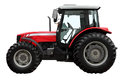 The Modern Red Tractor Stock Photo - 51543320