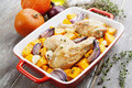 Chicken Baked With Pumpkin Royalty Free Stock Photo - 51547855