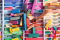 Colorful Pieces Of Chalk Are Used For Street Art Royalty Free Stock Photo - 51557165