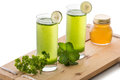 Parsley And Mint Juice Royalty Free Stock Photos - 51559818