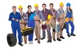 Portrait Of Happy Industrial Workers Royalty Free Stock Photos - 51568618