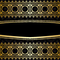 Ornamental Vector Background With Golden Decorations - Black Royalty Free Stock Photos - 51574028