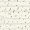 Music Seamless Pattern With Handwritten Musical Notes Stock Images - 51575094