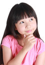 Young Girl Thinking Royalty Free Stock Images - 51595039
