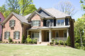 Brick House With Porch Royalty Free Stock Photos - 5165038