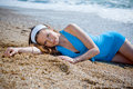 Nice Woman Relaxing Near Sea Stock Images - 5169504