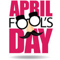 April Fools Day Text And Funny Glasses EPS 10 Vector Royalty Free Stock Photography - 51603757