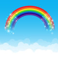 Rainbow Cloud And Sky Background 002 Stock Images - 51611994
