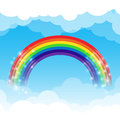 Rainbow Cloud And Sky Background Stock Images - 51612064